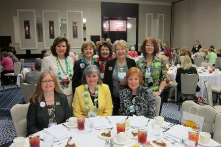 Our North Carolina ladies - From the left: seated, Cornelia Croce, Zan Bunn, Pat Bryan,, back row, left, Martha Jenkins, Nancy Clark, Brenda Formo, Dena Barnes and Valerie White