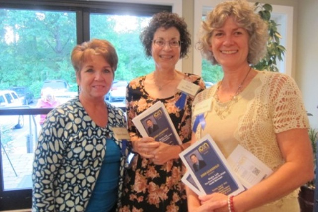 ICON Greeters - From the left:  Barbara Beard, Mary McKinney and Kathy Arab