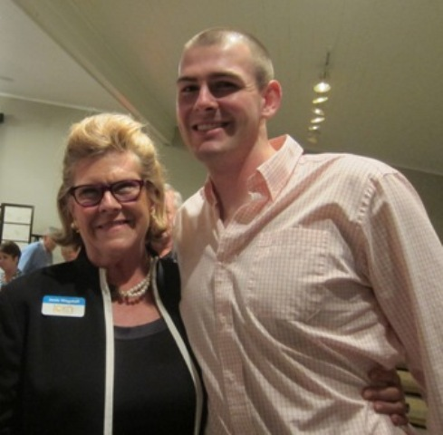 Janie Wagstaff, President of ICON Lecture Series and her son, Jack