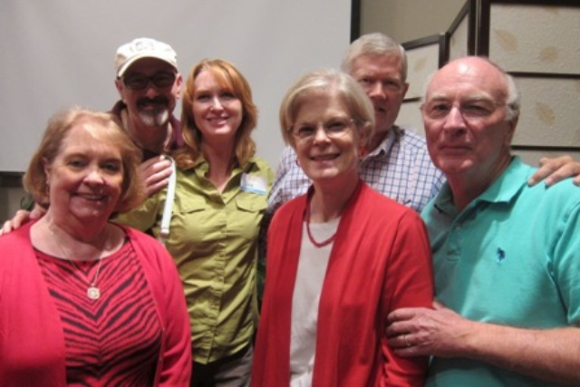 From the left:  Terry Wiegers, Gadi Adelman, Dee Sams, Mary Lou Drake, Col. (ret) Jay Stobbs, and Bob Drake