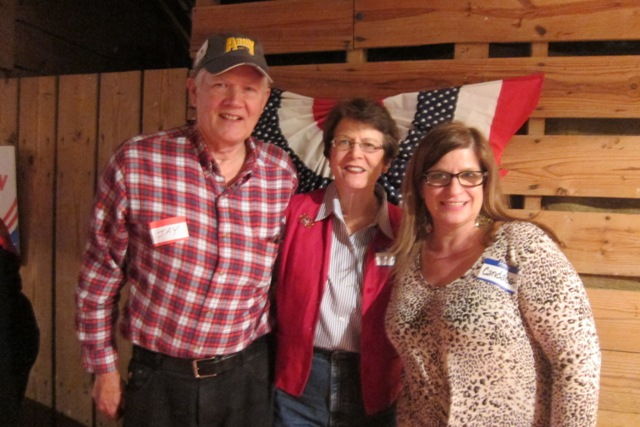 Colonel (Ret) Jay Stobbs and his wife, M.J. Hall and Candace Hunziker