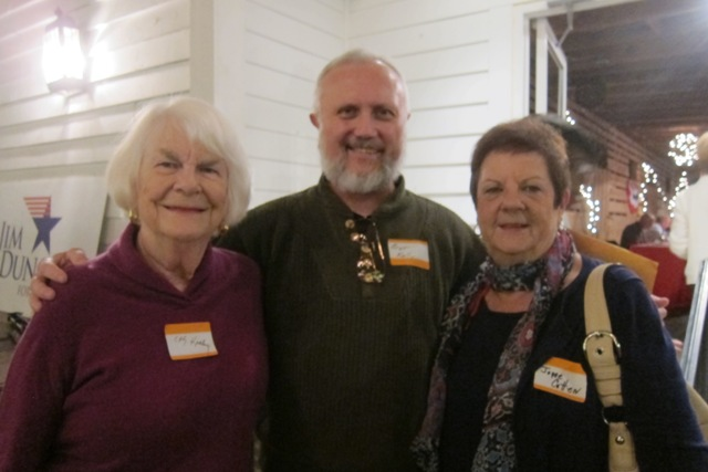From the left:  Elly Keeley, Bret Kelly and Joyce Cotten
