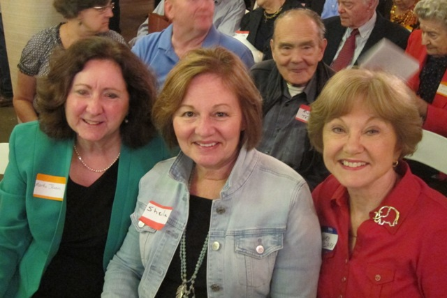 From the left:   Martha Jenkins, Sheila Salter and Nancy Clark
