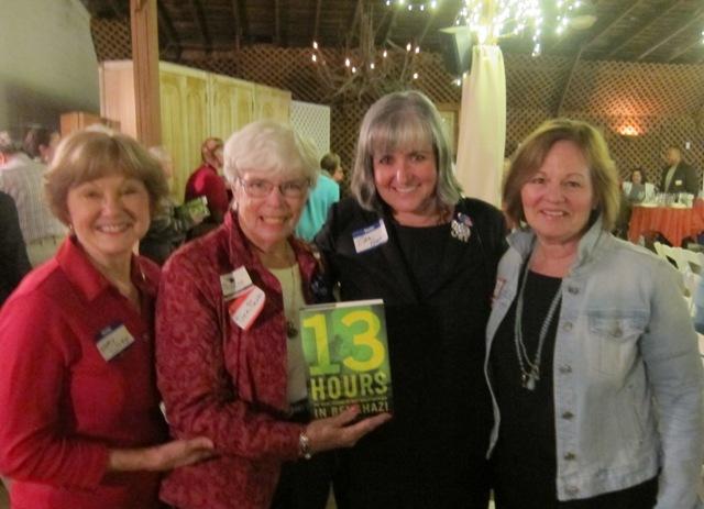 From the left:  Nancy Clark, Dee Park, Zan Bunn and Sheila Salter