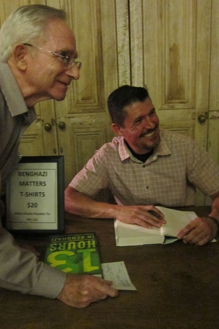 Marty Martin with Kris Paronto at book signing