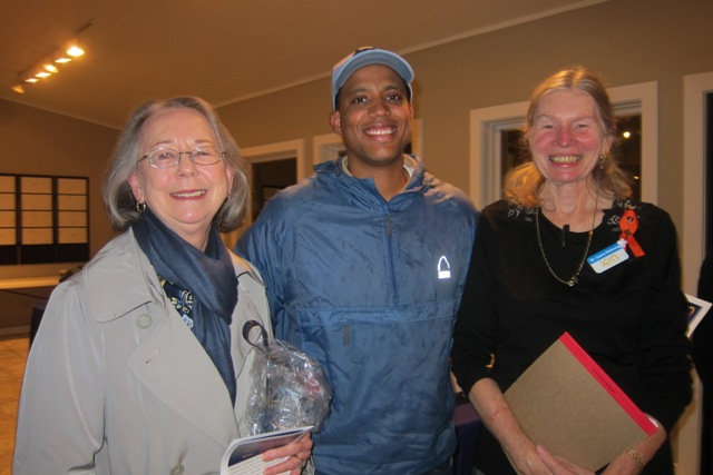 From the left:  Evelyn Poole-Kober, Dr. Leon Coleman and Dr. Laura Gutman