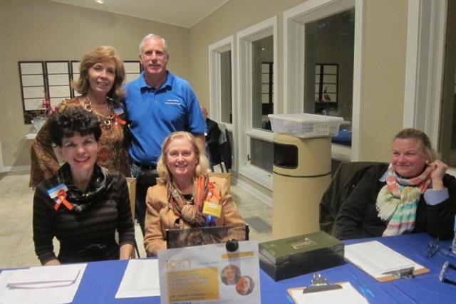 Standing, Meg Gresham and DAve McCusker, seated, Betty Ann Guidry, Jane Hogan and Laura Cox