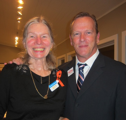 Dr. Laura Gutman and Frank Roche, candidate for the U.S. House of Representatives, District 2