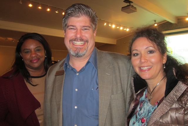 From the left:  Valerie Johnson, and  Dave and Mary Carter