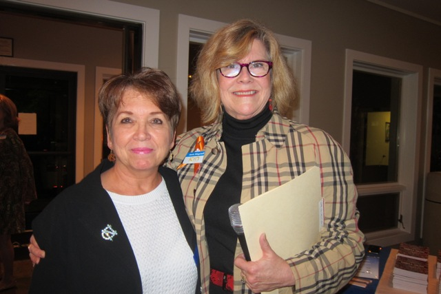 From the left:  Barbara Beard, Friends of ICON and Janie Wagstaff, President, ICON Lecture Series