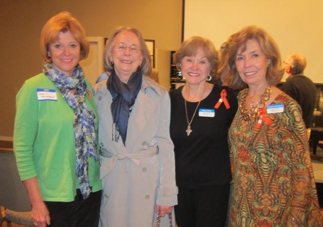 From  the left:  Cheri Hardman, EvelynPoole-Kober, Nancy Clark and Meg Gresham
