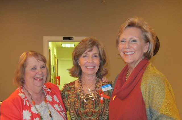 From the left:  Terry Wiegers, Meg Gresham and Andrea Rock