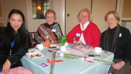 from the left:  Sue Googe, Republican candidate for the House, District 4, Cheryl Daley, Michala Eichelberg and Ginny Cole
