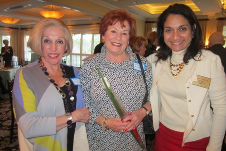 from the left:  Edie Brown, Karen Kolias, and Dr. Rosemary Fernandez Stein, candidate for North Carolina Superintendent of Public School