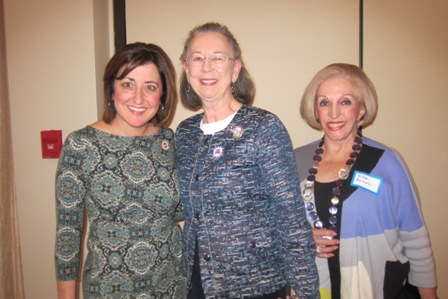 From the left:  Susan Tillis, Evelyn Poole Kober and Edie Brown