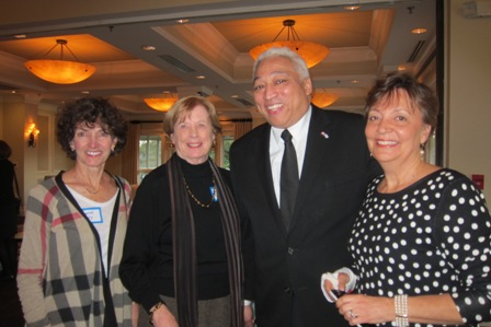 from the left:  Carol Kelly, Ginny Cole, Teji Kimball, Republican  candidate for House District 4