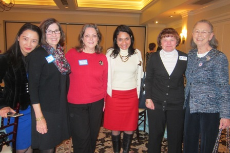 from the left:  Sue Googe, Betsy Duncan, Jackie Weyhenmeyer, Dr. Rosemary Fernandez Stein, Carol Ulrich and Evelyn Poole Kober