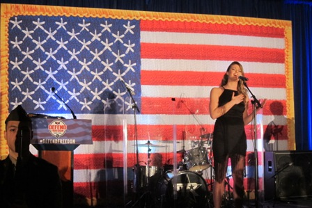 Ayla Brown, daughter of former Senator Scott Brown, singing the National Anthem
