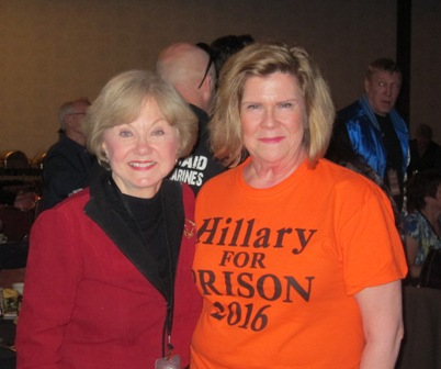 from the left:  Nancy Clark and Janie Wagstaff