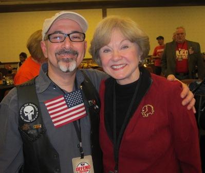 Gadi Adelman, counter terrorism expert and Nancy Clark.  Gadi's radio show is America Akbar !