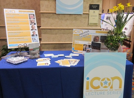 ICON Lecture Series table at Civitas CLC