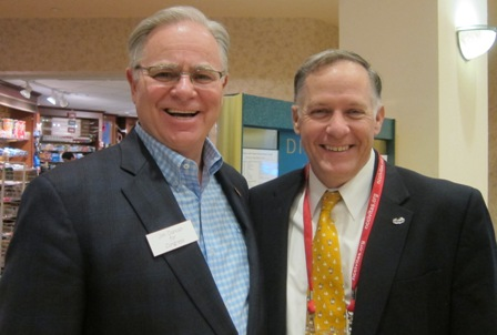 From the left:  Jim Duncan, candidate of U.S. House of Representatives and Sean Moser