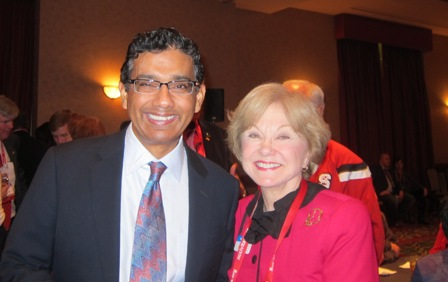 Dinesh D'Souza and Nancy Clark