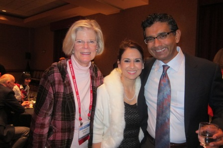 Dinesh D'Souza and his fiancee and Mary Lou Drake