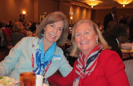 From the left:  Meg Gresham, ICON Board Member and Jane Hogan , ICON Advisory Board Member
