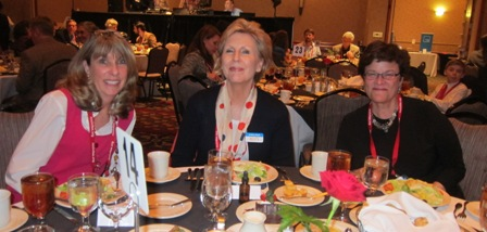 From the left:  Karen Nemetz, LIberty Lunch, Andrea Rock, ICON Board Member and Lee Green, Vice Chair, Durham GOP