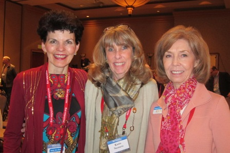 From the left:  Betty Ann Guidry, ICON Treasurer, Karin Nemetz, LIberty Lunch and Meg Gresham, ICON Board Member