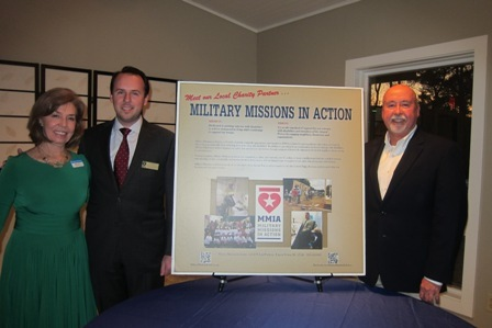 Military Missions in Action  www.militarymissionsinaction.org  From the left:  Meg Gresham, ICON Board,  James Adcock,                  and Mike Dorman, Executive Director