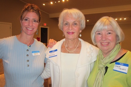 From the left: Kimberly Sanchez, ICON Board, Nancy  Erdman and Susan Thomas