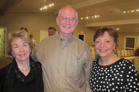From the left:  Gladys Kofalt, Dr. John and Cathy Wright