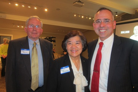 Lt. Colonel Patrick Testerman and his parents, Karen and David Testerman of New Hampshire