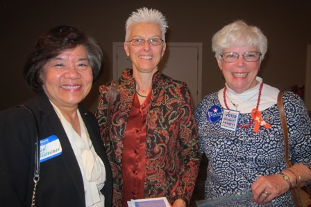 From the left:  Karen Testerman, Karen Macomson and Dee Park