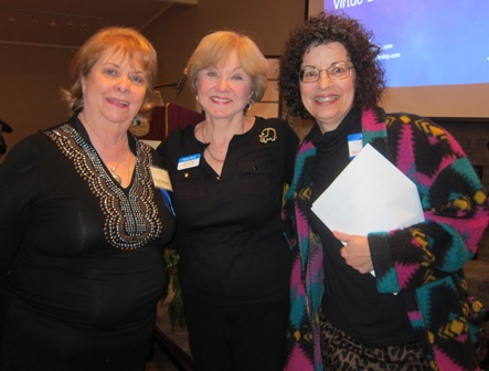 From the left:  Terry Wiegers, friends of ICON, Nancy Clark ICON Board, and Mary McKinney Friends of ICON