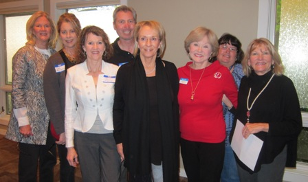 ACT for America Chapter Leaders:  From the left:  Fay Haggard, Highpoint, NC, Tina Forsberg, Greensberg, Cheri Pickett, Greensboro, Carolyn Parker-Ballou, Southpoint, Nancy Clark, ICON board member, Leigh Sudbrink, Greensboro, and back row - Dee Davis, Fayetteville and Robert Goodwill, High Point, NC