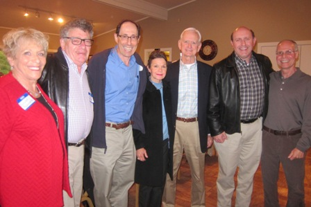 From the left:  Susan Berkowitz, Marty Berkowitz, Mike Ross, Vickie Jernigan, Joe Jernigan, Michael LaPaglia, candidate for NC Secretary of State, and Mike Abramson