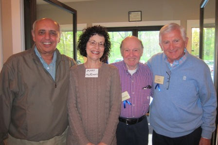 From the left:  Tony Bruno, Mary McKinney, Joel Freelander, and Jack McCallus