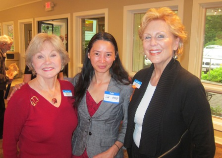 From the left:  Nancy Clark, ICON board, Sue Googe, Republican candidate for NC Congressional District 4, and Andrea Rock, ICON board