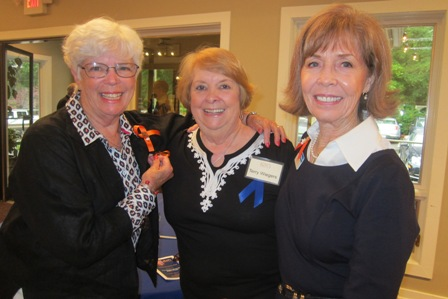 From the left:  Dee Park, Terry Wiegers, ICON Friend, and Meg Gresham, ICON board