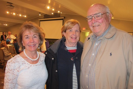 From the left:  Gladys Kofalt, ICON friend, and Ginny and Jerry Cole