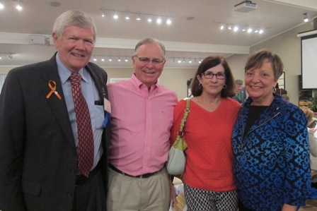 From the left:  Colonel (ret) Jay Stobbs, Jim Duncan, Betsy Duncan and Cathy Wright