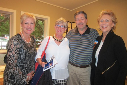 From the left:  PJ Gentry, Chair, Person County GOP, Betty Hoover, Mike Allen and Andrea Rock, ICON board