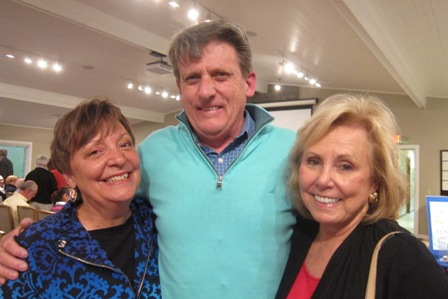 From the left:  Cathy Wright, Ken Johnson and Sandy Bazley