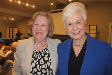 From the left:  Brenda Dowling and Dr. Brenda Hunter