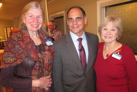 From the left:  Dr. Laura Gutman, ICON board, Dr. James Carafano, and Nancy Clark, ICON board