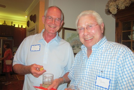 From the left:  Dr. John Wright and Jay Baker