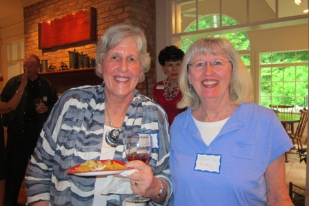 From the left:  Linda Devore of Fayetteville, NC and Jeanie Blake